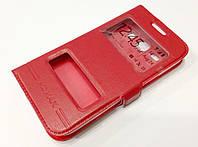 Чехол книжка с окошками momax для Samsung Galaxy Star Advance G350e красный