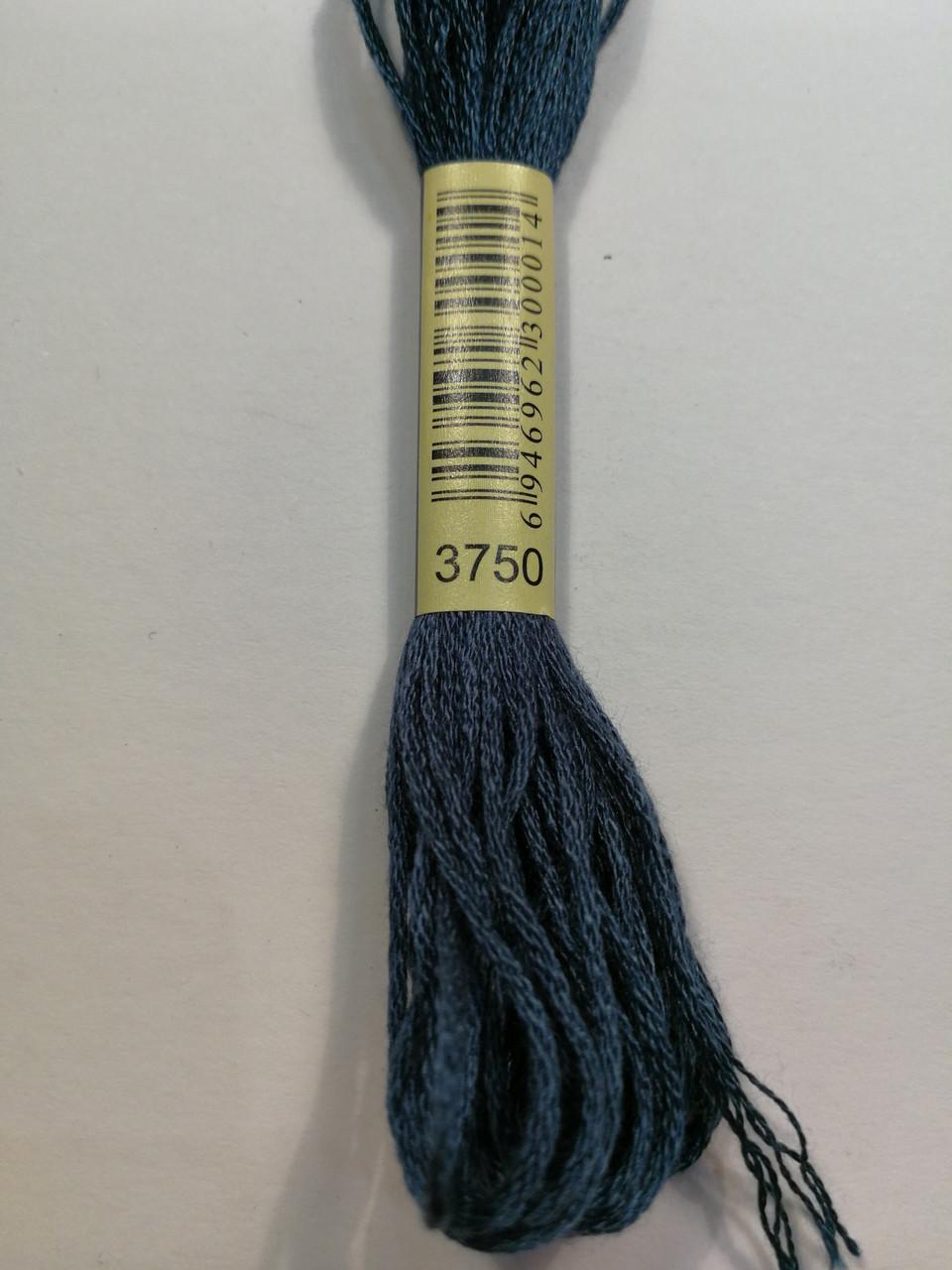 Мулине СХС 3750 античный синий очень темный