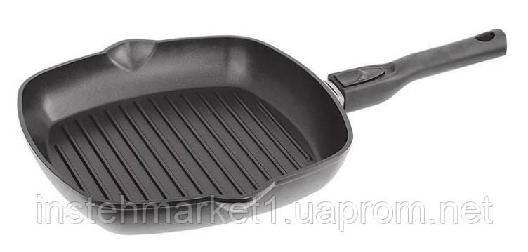 Сковорода-гриль БИОЛ 2814П (280x280 мм) антипригарное покрытие, съёмная бакелитовая ручка