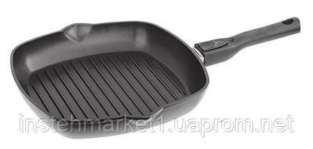 Сковорода-гриль БИОЛ 2814П (280x280 мм) антипригарное покрытие, съёмная бакелитовая ручка, фото 2