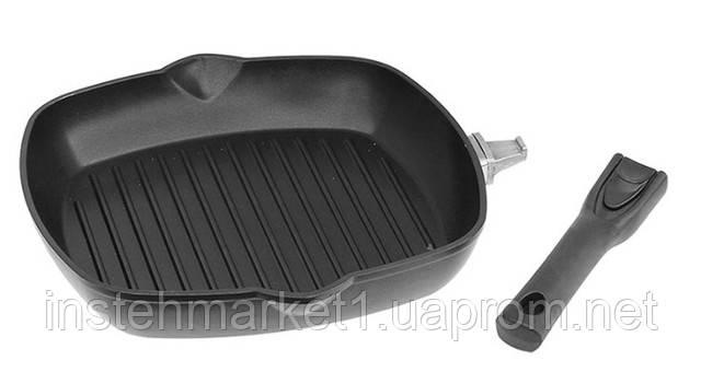 Сковорода-гриль БІОЛ 2614П (260x260 мм) антипригарне покриття, зйомна бакелітова ручка в інтернет-магазині