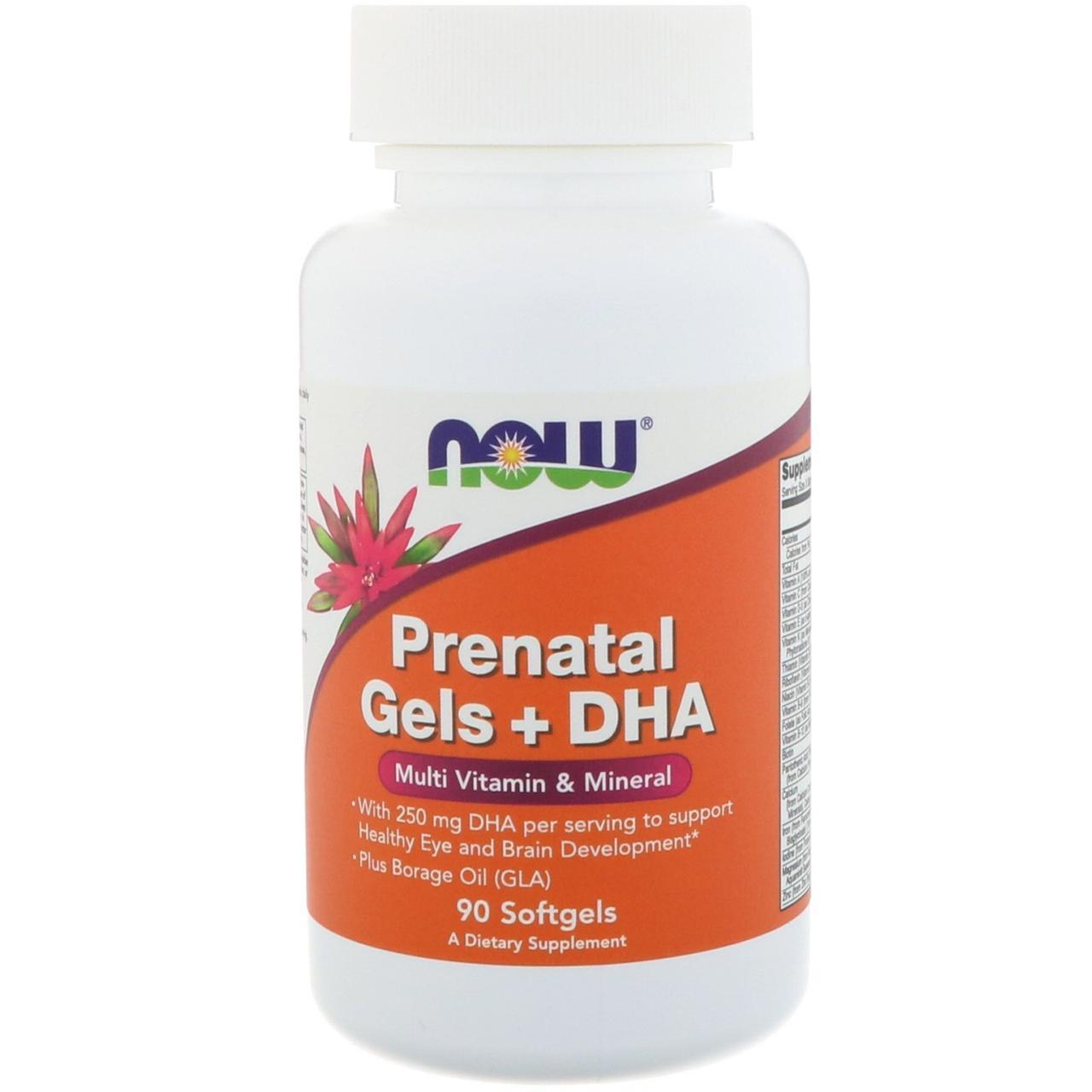 Витамины для женщин NOW Foods Prenatal Gels + DHA 90 softgel