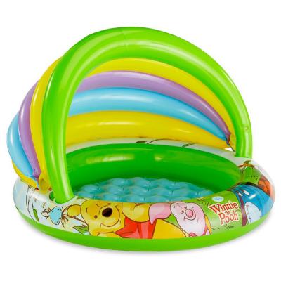 Дитячий надувний басейн Intex 57424 c навісом «Вінні Пух» Ø102x69см