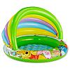 Детский надувной бассейн Intex 57424 c навесом «Винни Пух» Ø102x69см