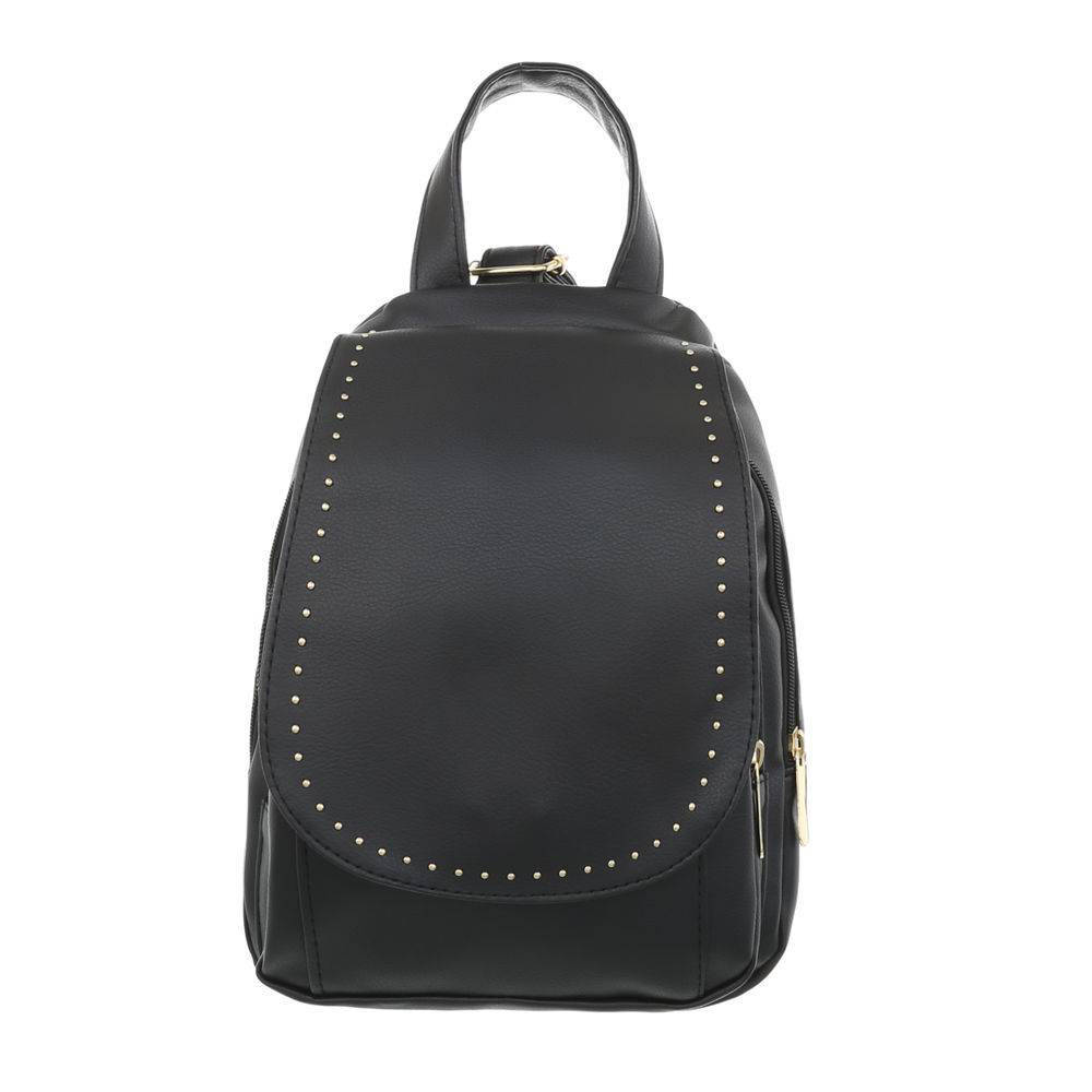 Рюкзак женский с металлическим декором (Европа) Черный