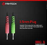 Наушники с микрофоном и регулятором громкости Fantech Shaco HG5 Black/Red (HG5), фото 6