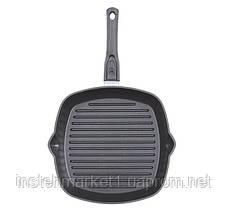 Сковорода-гриль БИОЛ 2814П (280x280 мм) антипригарное покрытие, съёмная бакелитовая ручка, фото 3