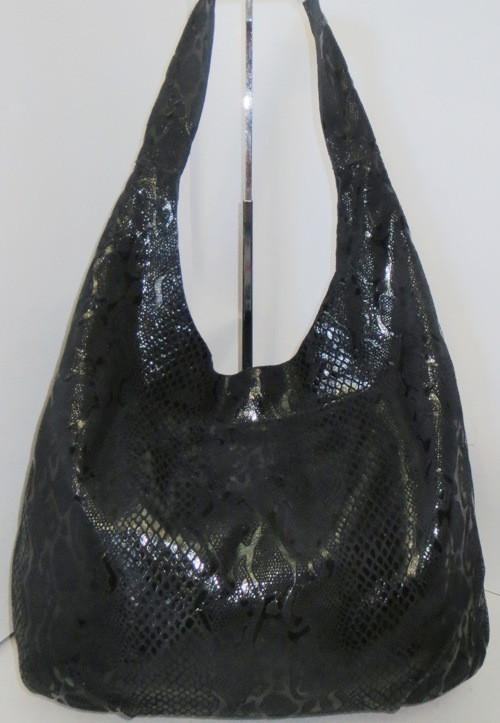 e3adaeab3469 Модная сумка из мягкой натуральной кожи чёрный питон - Интернет-магазин  стильных сумок