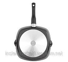 Сковорода-гриль БІОЛ 2614П (260x260 мм) антипригарне покриття, зйомна бакелітова ручка, фото 2