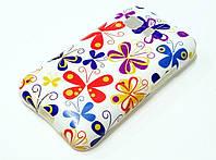 Чехол силиконовый с рисунком цветы для Samsung Galaxy Star 2 G130E / Young 2 G130H