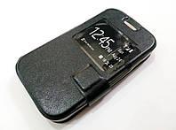 Чехол книжка с окошком momax для Samsung Galaxy Star 2 G130E / Young 2 G130H черный