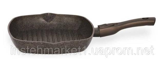 Сковорода-гриль БІОЛ 26143П (260x260 мм) антипригарне покриття, зйомна бакелітова ручка Soft-touch в інтернет-магазині