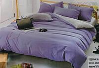 Двуспальный ЕВРО комплект двухцветного постельного белья