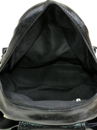 Стильний міський рюкзак для дівчини чорний, фото 2