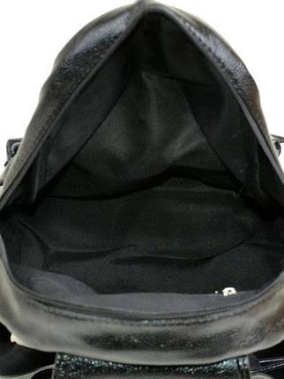 Стильный городской рюкзак для девушки черный, фото 2