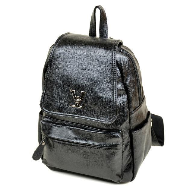 Стильный городской рюкзак для девушки черный