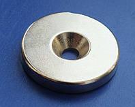 Неодимовый мощный магнит дисковый 30 х 5 мм N52 с отверстием magnet Neodymium магніт диск 30х5мм