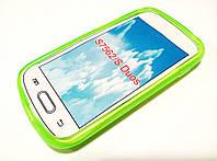 Чехол силиконовый однотонный для Samsung Galaxy S duos s7562 салатовый