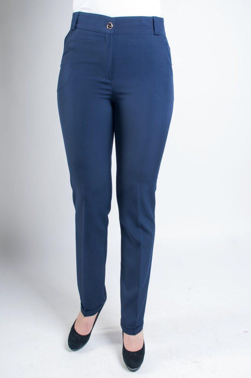 Синие классические брюки недорого