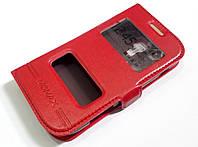 Чехол книжка с окошками momax для Samsung Galaxy S duos s7562 красный