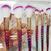 Кисти  для макияжа Kylie цветные (6 шт.)