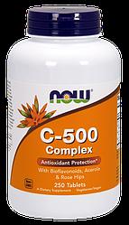 Витамины NOW Foods C - 500 250 tabs