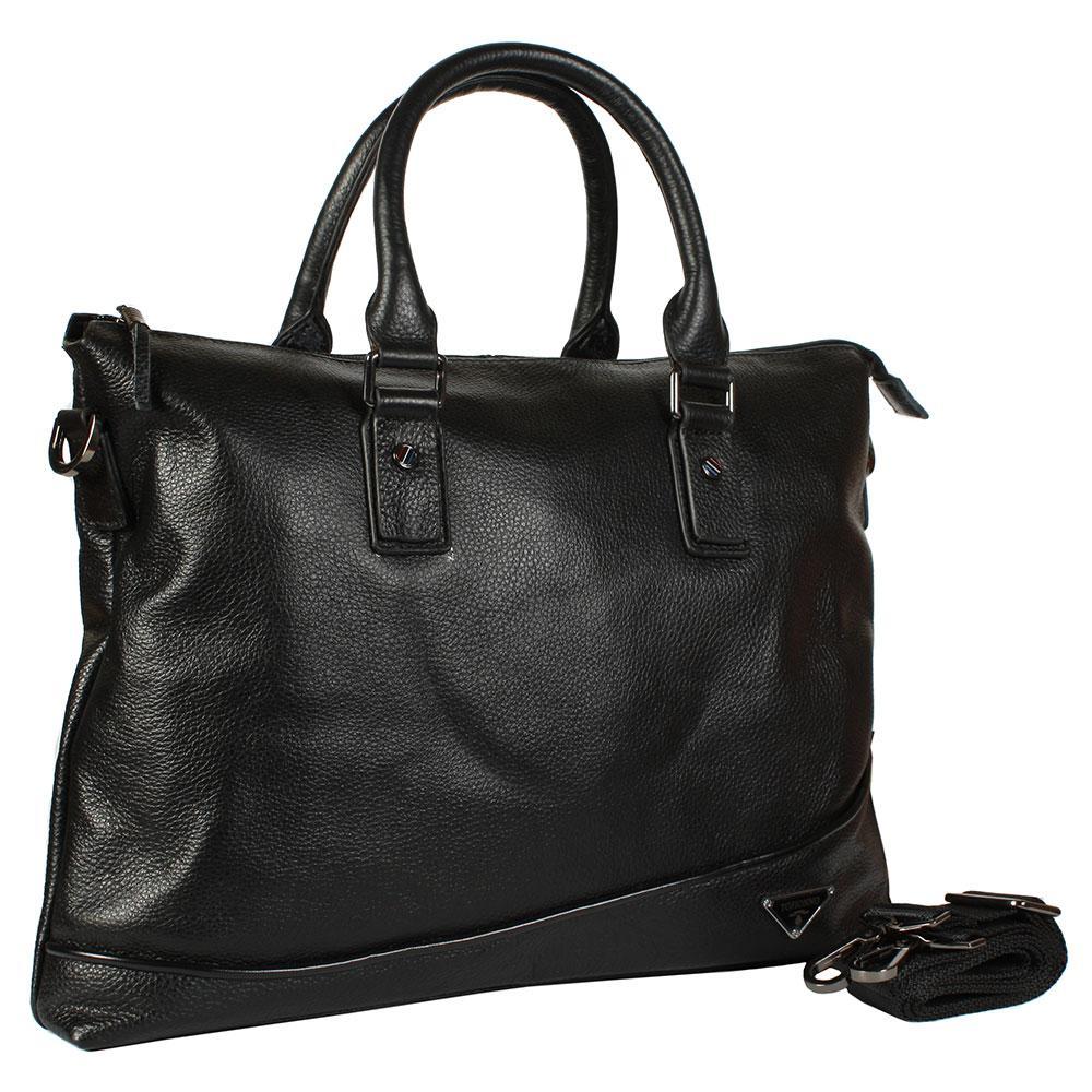 75b01262b0e0 Повседневная мужская кожаная сумка-портфель для ноутбука черная Tofion