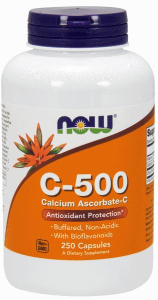 Витамины NOW Foods C - 500 Calcium Ascorbate 250 caps