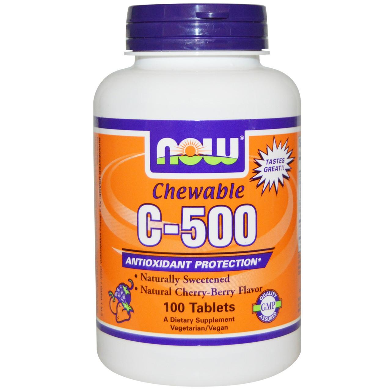 Вітаміни NOW Foods C - 500 Chew Cherry 100 tabs