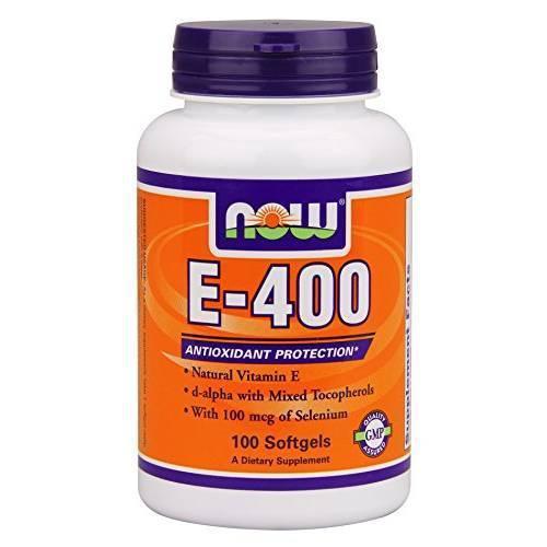 Витамины NOW Foods E - 400 100 softgels