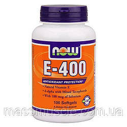 Витамины NOW Foods E - 400 100 softgels