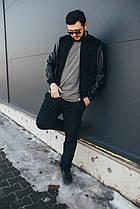 Стильная мужская куртка-бомбер №021