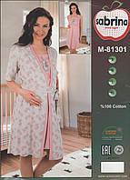 Комплект ночнушка + халатик для вагітних Sabrina