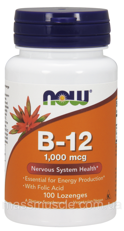 Витамины NOW Foods Methyl B-12 1000mcg 100 lozenges