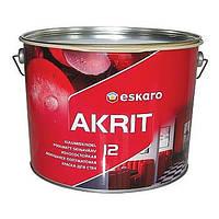 Eskaro Akrit 12 краска для стен и потолков (полуматовая) 2,85 л.