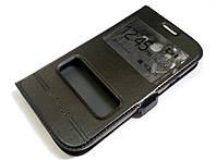 Чехол книжка с окошками momax для Samsung Galaxy Grand duos i9082 / Grand Neo i9060 черный