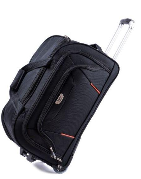 Дорожная сумка на колесах Wings Ws00008, 60л, 60 см, черный