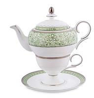 """Чайный набор (чашка и чайник) Pavone """"Соло Аделины"""" JK- 64"""
