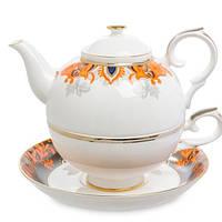 """Чайный набор (чашка и чайник) Pavone """"Риомаджоре"""" JK- 220"""