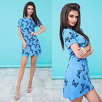 Платье летнее голубое