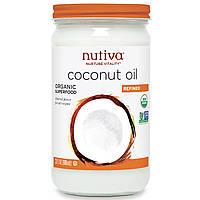 Nutiva, Органическое кокосовое масло, рафинированное (680 мл)