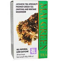 Mushroom Wisdom, Mai Green Tea, 20 чайных пакетиков, 30 г