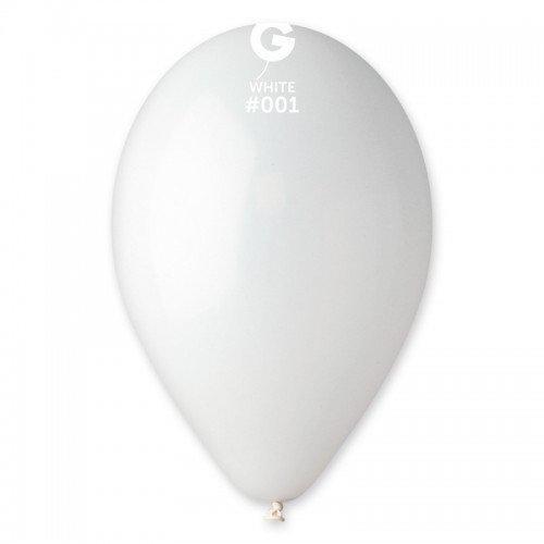 """Латексные воздушные шарики Пастель белые 8"""" (21 см) 100 штук ТМ Gemar"""