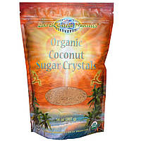 Earth Circle Organics, Кристаллический кокосовый сахар, 14 унций (397 г)