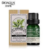 Масло чайного дерева массажное для лица -Эфирное массажное масло BIOAQUA 10мл