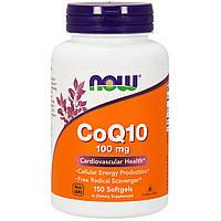 Now Foods, Коэнзим Q10, с витамином E, 100 мг, 150 желатиновых капсул