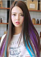 Каникалон канекалон Волосы на заколках накладные цветные  пряди.разноцветные прядки волос розовые