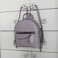 """Женский кожаный рюкзак """"Judy"""" светло-сиреневый, фото 1"""