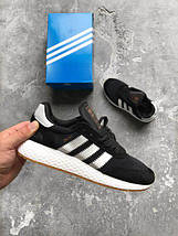 Мужские кроссовки Adidas Iniki runner black, фото 3
