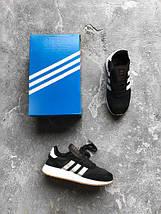 Мужские кроссовки Adidas Iniki runner black, фото 2